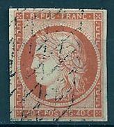 FRANCE - N° 5 - 40 CENTIMES ORANGE Oblitéré GRILLE SANS FIN - 1849-1850 Cérès