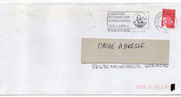 2003--Flamme  SAINT SORLIN D'ARVES--73--Montagne  été-Hiver --type Marianne Luquet Autocollant - Postmark Collection (Covers)