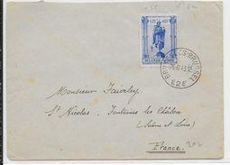 BELGIQUE - 1943 -  COB N°620 SEUL SUR LETTRE De BRUXELLES => FONTAINES LES CHALON (SAONE ET LOIRE) - Briefe U. Dokumente