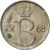 Belgique, 25 Centimes, 1968, Bruxelles, TTB, Copper-nickel, KM:154.1 - 02. 25 Centimes