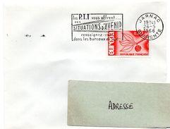 CHARENTE - Dépt N° 16 = JARNAC 1966 = FLAMME Non Codée = SECAP ' Les PTT Vous Offrent SITUATIONS ... ' - Marcophilie (Lettres)