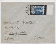 BELGIQUE - 1936 - SEUL SUR LETTRE De HYON CIPLY => TROSLY (AISNE) - Belgique
