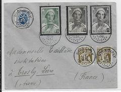 BELGIQUE - 1936 - LETTRE De HYON CIPLY => TROSLY (AISNE) - Belgique