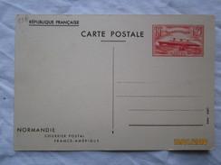 LE  /   Entier N° 299 CP1  Non écrit , 1939 , Paquebot  Normandie - Enteros Postales
