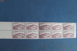 1946       VEZELAY      BLOC  DE  10      FRAICHEUR  POSTALE - France