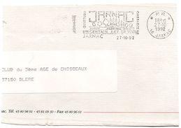 CHARENTE - Dépt N° 16 = JARNAC 1992 = FLAMME PP Type II =  SECAP Illustrée De Francois 1er + 'PINEAU' - Annullamenti Meccanici (pubblicitari)