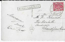 BELGIQUE - 1937 - CARTE De LIBRAMONT Avec OBLITERATION De PASSAGE De HABAY LA NEUVE => CHAUDFONTAINE - Marcophilie