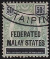 Malaya    .      SG   .    8   .         O       .          Gebruikt   .    /    .   Cancelled - Federated Malay States