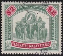 Malaya    .      SG   .     49   .         O       .          Gebruikt   .    /    .   Cancelled - Federated Malay States
