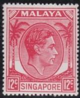 Singapore     .      SG   .      22a       .   *     .     Ongebruikt   .    /    .  Mint-hinged - Singapore (...-1959)