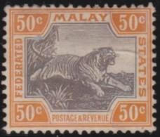 Malaya         .      SG   .     22a  .    (*)        .    Geen  Gom   .    /    .   No  Gum - Federated Malay States