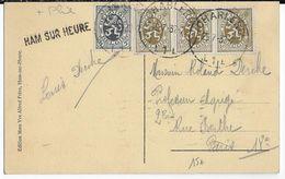 BELGIQUE - 1932 - CARTE Avec OBLITERATION LINEAIRE De HAM SUR HEURE => PARIS - Marcophilie
