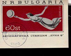 Bulgarien Block 017 Mondlandung Luna 9 Used Gestempelt - Hojas Bloque