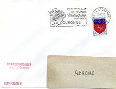 CHARENTE - Dépt N° 16 = LA COURONNE 1967 =  FLAMME Codée =  SECAP Illustrée ' CHAMPIONNAT MOTO CROSSl ' - Marcophilie (Lettres)