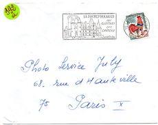 CHARENTE - Dépt N° 16 = LA ROCHEFOUCAULD 1967 ? =  FLAMME Codée =  SECAP Illustrée' CLOITRES + CHATEAU ' - Marcophilie (Lettres)