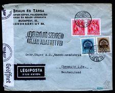 A5075) Ungarn Hungary Luftpostbrief 9.7.41 Nach Germany Mit Zensur - Ungarn