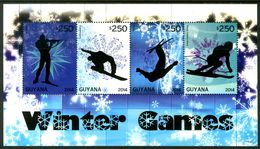 GUYANA 2014** - Winter Olympic Games In Sochi - Block Di 4 Val. MNH Come Da Scansione - Inverno 2014: Sotchi