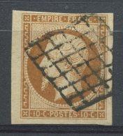 N°13A  Oblitéré Grille  TB - 1853-1860 Napoleone III