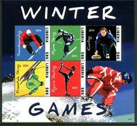 LIBERIA 2014** - Winter Olympic Games In Sochi - Block Di 5 Val. MNH Come Da Scansione - Inverno 2014: Sotchi