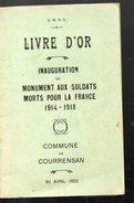 Courrensan (32 Gers) Inauguration Du Monument Aux Morts 1914-18 ..1922 (F.2479) - Libros, Revistas, Cómics