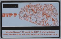 NL.- Telefoonkaart. PTT Telecom. BTP. BOND VAN TELECOMMUNICATIEPERSONEEL. PTT. DE VAKBOND VOOR TELECOM MEDEWERKERS. 302L - Netherlands