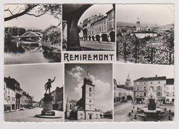 """REMIREMONT - 7360 - Pont, Arcades, Vue Générale, Monument Du Volontaire, Eglise, Fontaine - (Edit De Luxe """"Estel"""") - Remiremont"""