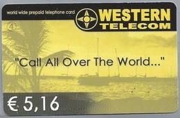 INTERNATIONAL PHONECARD - Call All Over The World... WESTERN TELECOM. World Wide Prepaid Telephone Card € 5,16. - Netherlands