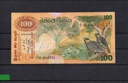 SRI LANKA 1979, 100 RUPEES, P-88a, CIRCULADO, 2 ESCANER - Sri Lanka