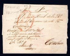 Prefilatelia - 1825 Ca. Galicia Orense - Manuscrito Certificacion - Rara - ...-1850 Voorfilatelie