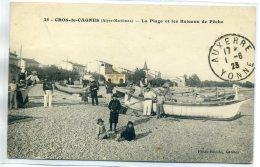 06 CROS De CAGNES Plutot Rare - Photo Blondo 25- Pecheurs Bateaux De Peche Plage 1923  écrite De Cros     /D20-2017 - France