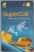 ES.- INTERNATIONAL CALLING CARD - IDT. SUPERCALL. - € 6. - Spanje