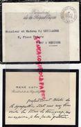 54- PONT A MOUSSON - RARE ENVELOPPE + CARTE MANUSCRITE PRESIDENT REPUBLIQUE RENE COTY A GUILLAUME 8 PLACE THIERS-1955 - Historical Documents