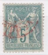 FRANCE YT N° N° 64 SAGE TYPE I  OBLITERATION ROUGE DES IMPRIMES - 1876-1878 Sage (Type I)