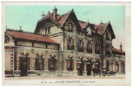 CPA - 95 - SAINT GRATIEN  - La Gare   - - Saint Gratien