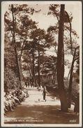 Invalids Walk, Bournemouth, Hampshire, 1936 - RP Postcard - Bournemouth (until 1972)