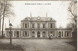 CPA - 37 - CHATEAU-RENAULT - La Gare    - - France