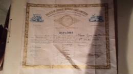 07 ANNONAY DIPLOME SOCIETE SECOURS MUTUELS ARTS ET METIERS ARDECHE  TOURNON - Historical Documents
