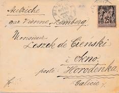 Env De Marseille Gare à Horodenka (Galicie) Via Autriche TB. - Poststempel (Briefe)
