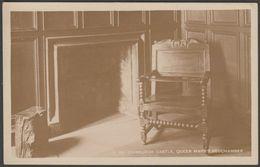 Queen Mary's Bedchamber, Edinburgh Castle, C.1920s - HM Office Of Works RP Postcard - Midlothian/ Edinburgh