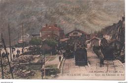 411 - Saint Claude ( Jura ) - Gare Du Chemin De Fer ( Locomotive Gare Train ) - Saint Claude