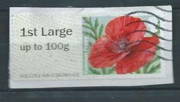 GROSBRITANNIEN GRANDE BRETAGNE GB 2016 Post & Go - Common Poppy  WW1 Battle Of Passchendaele Overprint 1st Large - 1952-.... (Elizabeth II)