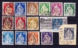 Schweiz 1908-21. Sitzende Helvetia. Michel: € 60 - Gebraucht
