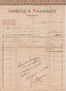 FA15 CAPRIOLO E MASSIMINO TIPOGRAFI 1904 - Italia
