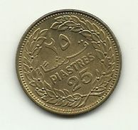 1970 - Libano 25 Piastres - Libano