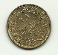 1970 - Libano 25 Piastres - Lebanon