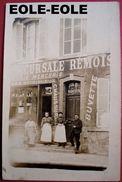 51 - CARTE PHOTO - RILLY LA MONTAGNE - CAFE DE LA POSTE - SUCCURSALE REMOISE Devanture - Epicerie - Rilly-la-Montagne