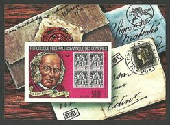 COMORO 1979 ROWLAND HILL OMNIBUS STAMP ON STAMP PENNY BLACK IMPERF M/SHEET MNH - Comoros