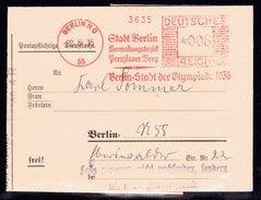 """Gerichtsbrief Mit Freistempel """"Berlin Stadt Der Olympiade 1930"""" - Allemagne"""