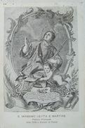 PENNE (PESCARA) - S.MASSIMO LEVITA E MARTIRE PATRONO PRINCIPALE DELLA CITTA' E DIOCESI 1916 CARD 102 ANNI!! - Pescara