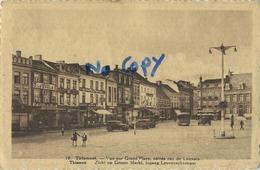 Tienen :  Zicht Op De Groote Markt , Ingang Leuvenschestraat     ( Geschreven 1935    Met Zegel ) - Tienen
